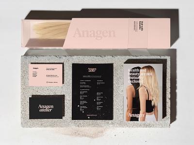 Anagen Atelier Brand Identity Collateral package design product design print design print beauty salon typography logo adobe illustrator adobe photoshop photography graphic design design modern minimal identity branding