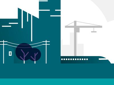 Cityscape cityscape illustration flat