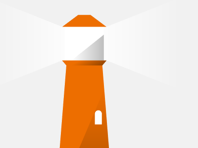 Lighthouse infographic flat