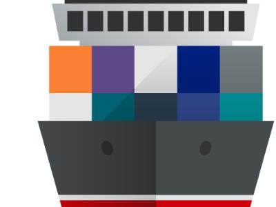 I'm on a boat illustration icon