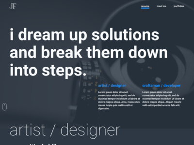 personal website update web design