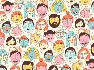 Face Pattern smile illustration pattern faces expressions