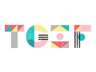 TGIF shapes geometric lettering friday