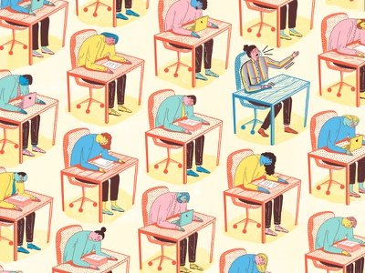 """The Power of """"Why?"""" and """"What If?"""" - for The New York Times office questions editorial nyt the new york times illustration"""