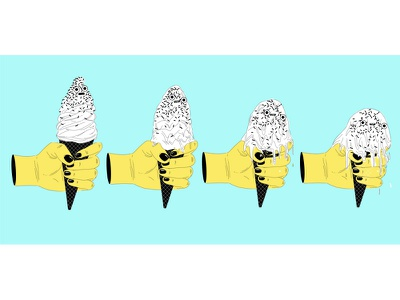 Trying not to melt summer melting melt ice cream hot