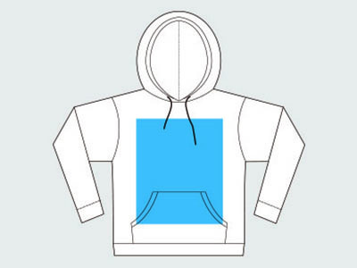 Unisex Pullover Hoodie Template