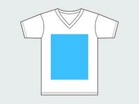 Unisex V-Neck Tshirt Template