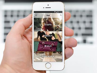Shopping App store fashion mobileweb ui typography categories design ios app