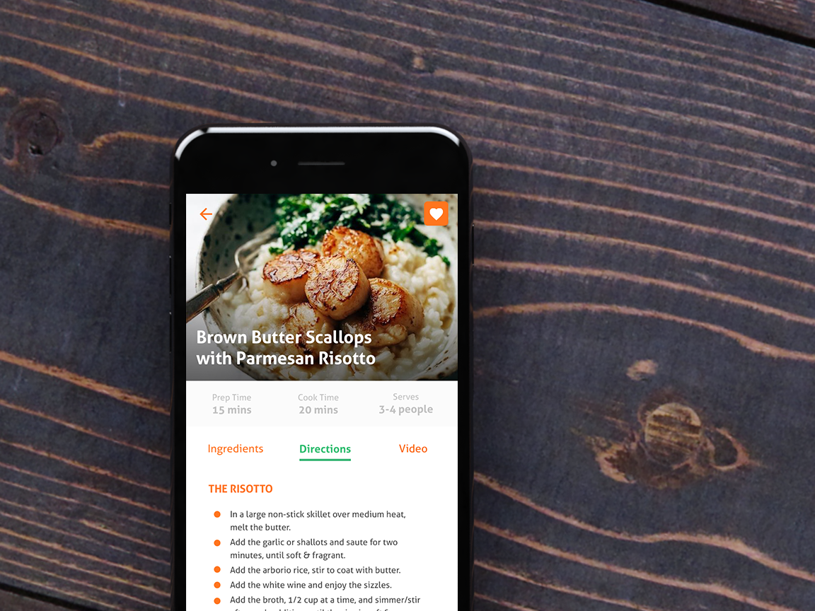 Recipe mealprep mobileapp risotto recipe food