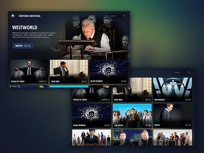 Television App darktheme entertainment shows tv