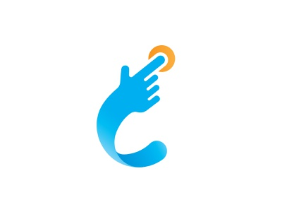 C letter Click creative it 3d logo 3dlogo c touch screen mouse click mouse technology logo c letter logo c letter