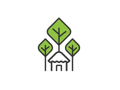 SUFAL Logo line art logo forest and livelihoods bangladesh forest department forest tree and house tree sufal