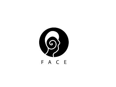 Face icon logos human face face ink logo abstract
