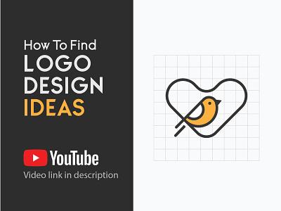 Bird & Heart logo tutorial how to find logo idea logo concept logo design idea bird logo peace lover bird lover heart bird