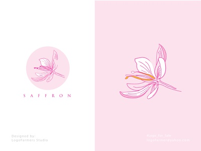 saffron logo icon brandmark brand logo for sale vector logo design sketch organic logo flower drawing flower logo saffron luxury logo hand drawing saffron saffron drawing logo nature logo saffron flower