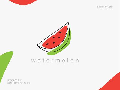 Abstract Watermelon Logo brandmark brand design vector logo for sale logo design watermelon juice juice logo organic fruit red fruit fresh fruit organic logo fruity logo fruit logo watermelon logo