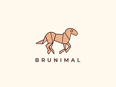 Animal Logo abstract art abstract horse drawing logo art horse animal