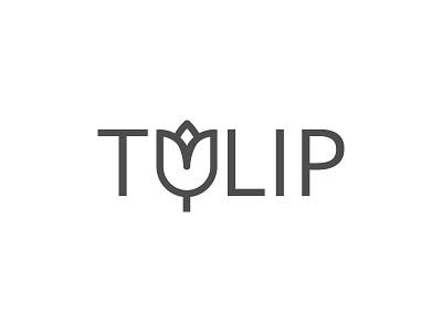 Tulip icon logo flower tulip