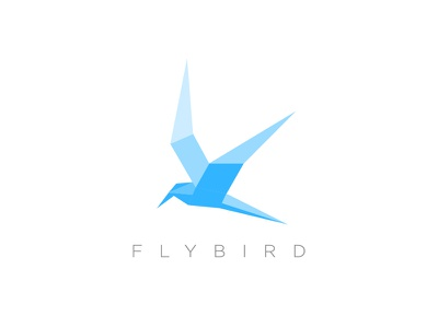 Flying bird polygon logo logo design logo for sale icon logo blue bird bird logo flying bird