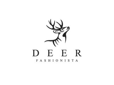 Deer Logo ink animal logo for sale deer logo fashion logo vector logo design animal logo deer