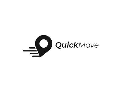 QuickMove Logo logo for sale location pin location point navigation logo fast move fast navigation quick navigation navigation logocation logo location move quick