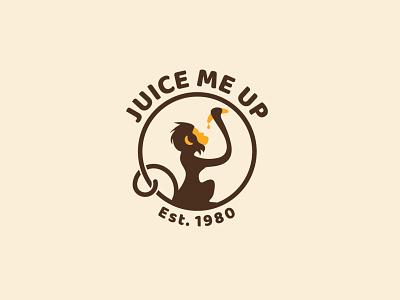 Monkey & Banana juice juice bar banana logo monkey logo logo design banana juice banana monkey