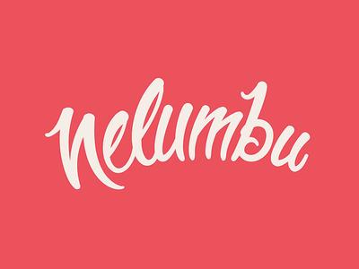 New Nelumbu logo nelumbu lettering logo