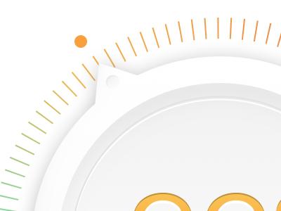 Temperature dial detail measurement temperature dial