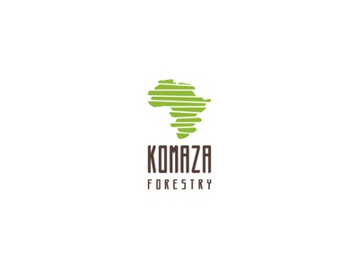 Komaza Forestry Logo Proposal connecting parts slices nature ecology human centered map africa forestry design logo