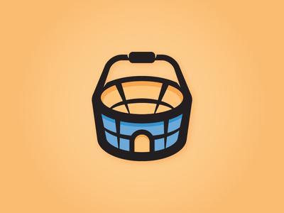 Logo Proposal: Sales Stadium playful arena stadium shopping-basket shopping sales