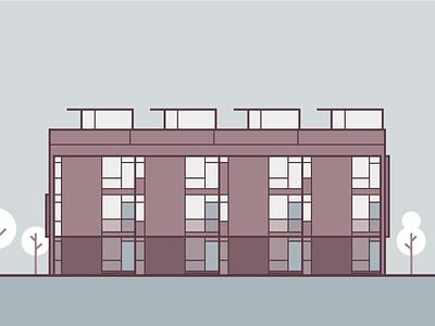 City Flats | Multi-Family Home 1 lines city home vector condos