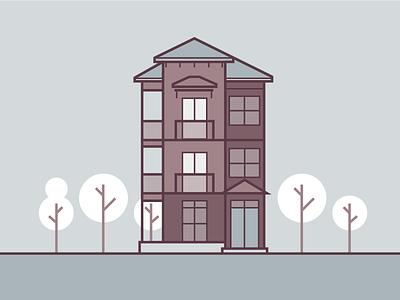 City Flats | Multi-Family Homes illustration line home housing vector