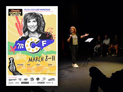 Memphis Comedy Festival 2018 Poster vector lizz winstead photography festival comedy festival poster design