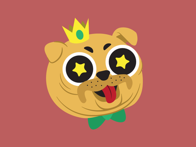 You Look Like May illustration dog pug character design vector