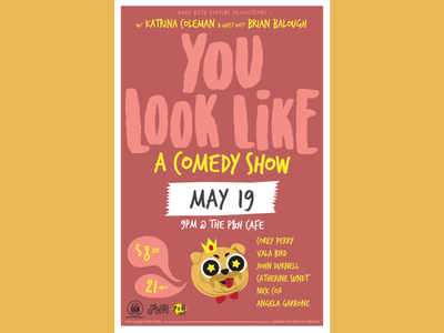 You Look Like a May Poster illustration vector memphis comedy poster design
