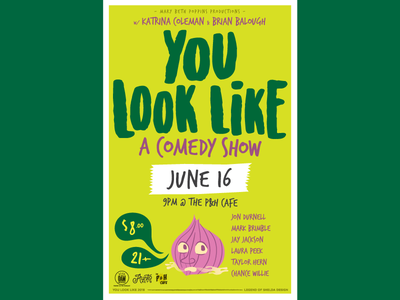 You Look Like a June Poster vector comedy illustration poster