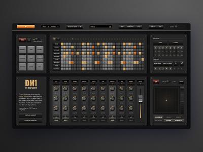 The Drum Machine sound eletronic webflow audio app music production sampler drums