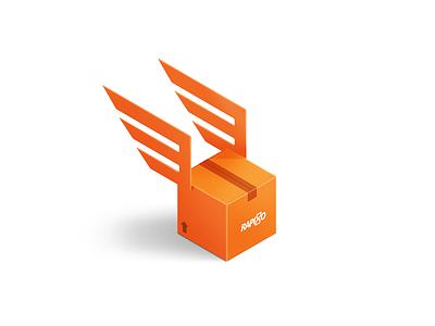 Rapiddo delivery icon delivery box illustration