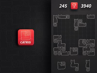 Catris puzzle play mobile kitten cat 1010 tetris game