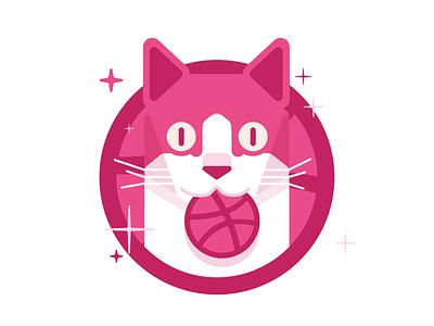 Dribbble Sticker Pack Playoff 2018 ui ux design badge cat dribbble mule sticker rebound playoff illustration
