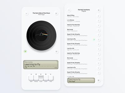 Neumorphic UI (with code) interface music illustration css html skeuomorphism 2020 ui design trend player ui neumorphic neumorphism