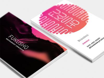 Fukushu Restaurant Concepts Business Card branding restaurant business card