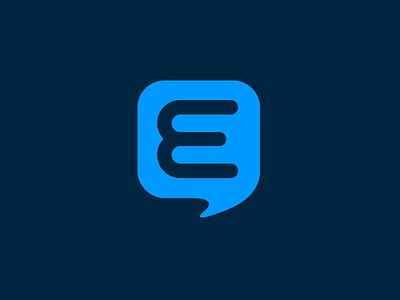 Exponent Icon mark logo icon comments bubble e