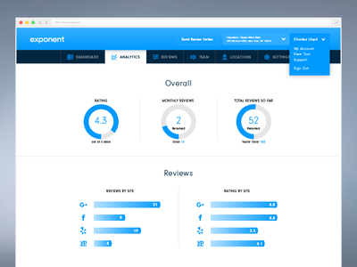 Exponent UI review management ui