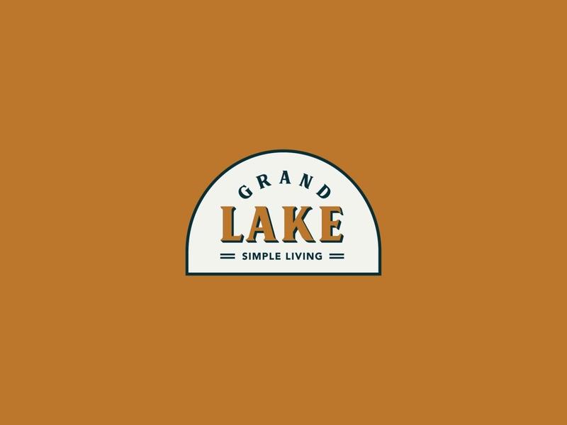Grand Lake Badge logo vector illustration branding design