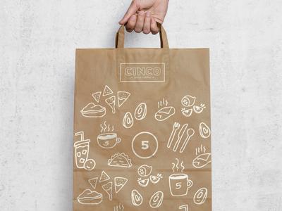 Cinco Restaurant Branding