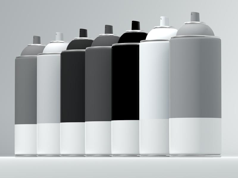 the army spraypaint bottle spray paint render c4d