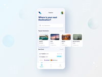 FlyLine Explore Destination tabs interaction design adobexd flight search flight booking flight explore interaction app ui ux