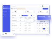 ADMINTORY Dashboard gradient dashboard ui dashboad calender order tracking order details invoice ecommerce design chart ui ux calendar table web app ecommerce app e-commerce dashboard ecommerce