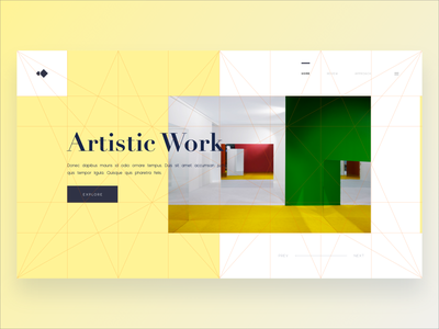Golden Canon Grid Explorations free web template free download free xd responsive design grid exploration header golden canon web interaction web design
